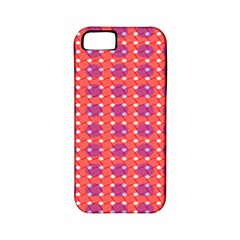 Roll Circle Plaid Triangle Red Pink White Wave Chevron Apple iPhone 5 Classic Hardshell Case (PC+Silicone)
