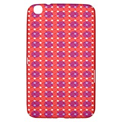 Roll Circle Plaid Triangle Red Pink White Wave Chevron Samsung Galaxy Tab 3 (8 ) T3100 Hardshell Case