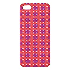 Roll Circle Plaid Triangle Red Pink White Wave Chevron iPhone 5S/ SE Premium Hardshell Case