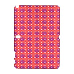 Roll Circle Plaid Triangle Red Pink White Wave Chevron Galaxy Note 1