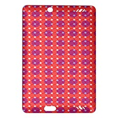 Roll Circle Plaid Triangle Red Pink White Wave Chevron Amazon Kindle Fire Hd (2013) Hardshell Case