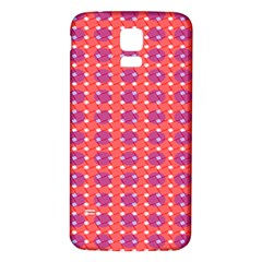 Roll Circle Plaid Triangle Red Pink White Wave Chevron Samsung Galaxy S5 Back Case (White)