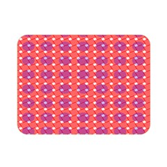 Roll Circle Plaid Triangle Red Pink White Wave Chevron Double Sided Flano Blanket (Mini)