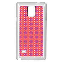 Roll Circle Plaid Triangle Red Pink White Wave Chevron Samsung Galaxy Note 4 Case (White)
