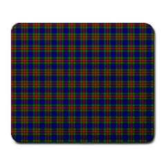 Tartan Fabrik Plaid Color Rainbow Large Mousepads