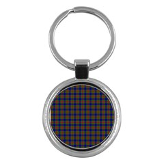 Tartan Fabrik Plaid Color Rainbow Key Chains (Round)