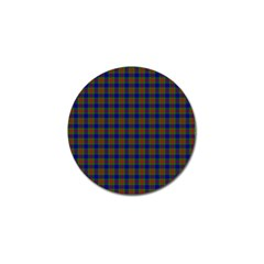 Tartan Fabrik Plaid Color Rainbow Golf Ball Marker
