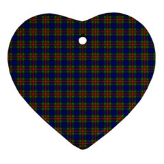 Tartan Fabrik Plaid Color Rainbow Heart Ornament (Two Sides)