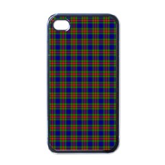 Tartan Fabrik Plaid Color Rainbow Apple iPhone 4 Case (Black)
