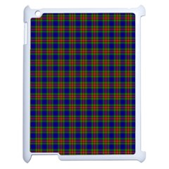 Tartan Fabrik Plaid Color Rainbow Apple iPad 2 Case (White)