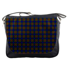 Tartan Fabrik Plaid Color Rainbow Messenger Bags