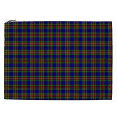 Tartan Fabrik Plaid Color Rainbow Cosmetic Bag (XXL)
