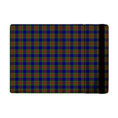 Tartan Fabrik Plaid Color Rainbow Apple iPad Mini Flip Case