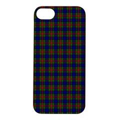Tartan Fabrik Plaid Color Rainbow Apple iPhone 5S/ SE Hardshell Case