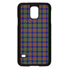 Tartan Fabrik Plaid Color Rainbow Samsung Galaxy S5 Case (Black)