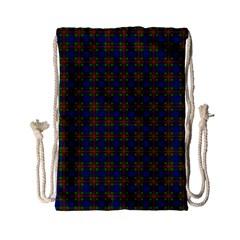 Tartan Fabrik Plaid Color Rainbow Drawstring Bag (Small)