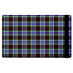 Tartan Fabrik Plaid Color Rainbow Triangle Apple iPad 3/4 Flip Case
