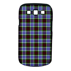 Tartan Fabrik Plaid Color Rainbow Triangle Samsung Galaxy S III Classic Hardshell Case (PC+Silicone)