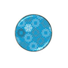 Flower Star Blue Sky Plaid White Froz Snow Hat Clip Ball Marker
