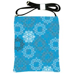 Flower Star Blue Sky Plaid White Froz Snow Shoulder Sling Bags