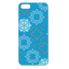 Flower Star Blue Sky Plaid White Froz Snow Apple Seamless iPhone 5 Case (Color)