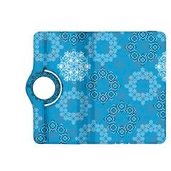 Flower Star Blue Sky Plaid White Froz Snow Kindle Fire HDX 8.9  Flip 360 Case
