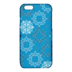 Flower Star Blue Sky Plaid White Froz Snow iPhone 6/6S TPU Case