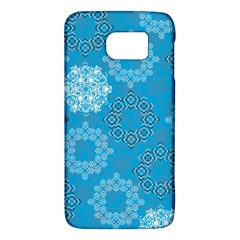 Flower Star Blue Sky Plaid White Froz Snow Galaxy S6