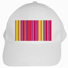 Stripes Colorful Background White Cap