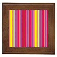 Stripes Colorful Background Framed Tiles