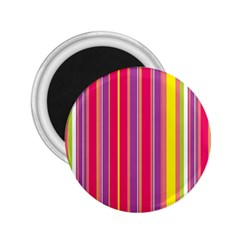 Stripes Colorful Background 2.25  Magnets