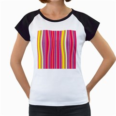 Stripes Colorful Background Women s Cap Sleeve T