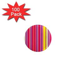 Stripes Colorful Background 1  Mini Magnets (100 Pack)
