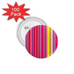 Stripes Colorful Background 1.75  Buttons (100 pack)