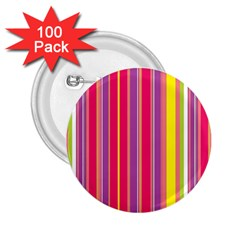 Stripes Colorful Background 2 25  Buttons (100 Pack)