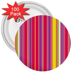 Stripes Colorful Background 3  Buttons (100 Pack)