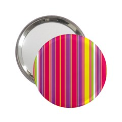 Stripes Colorful Background 2.25  Handbag Mirrors