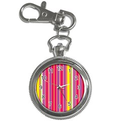 Stripes Colorful Background Key Chain Watches
