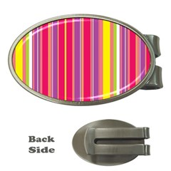 Stripes Colorful Background Money Clips (Oval)