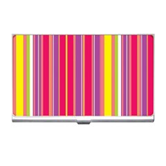 Stripes Colorful Background Business Card Holders