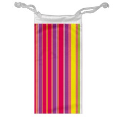 Stripes Colorful Background Jewelry Bag