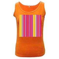 Stripes Colorful Background Women s Dark Tank Top