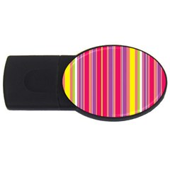 Stripes Colorful Background USB Flash Drive Oval (4 GB)