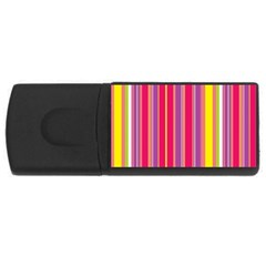 Stripes Colorful Background Usb Flash Drive Rectangular (4 Gb)