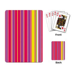Stripes Colorful Background Playing Card