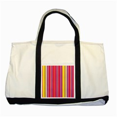 Stripes Colorful Background Two Tone Tote Bag