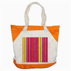 Stripes Colorful Background Accent Tote Bag