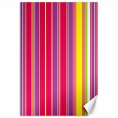 Stripes Colorful Background Canvas 12  x 18