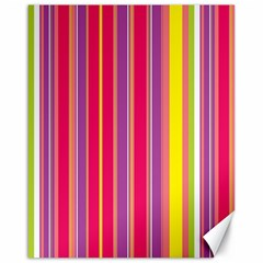 Stripes Colorful Background Canvas 16  X 20