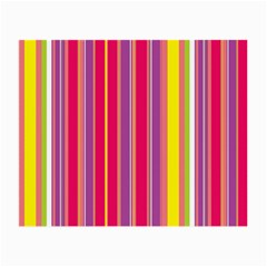 Stripes Colorful Background Small Glasses Cloth (2-Side)